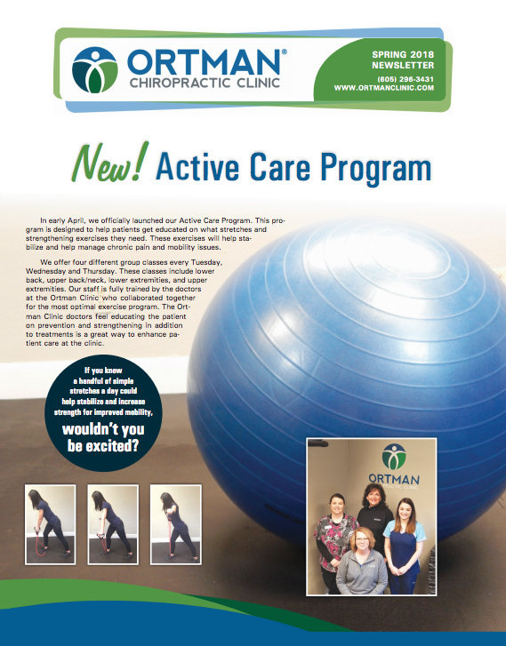 Ortman Clinic Patient Newsletter Spring 2018